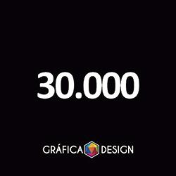 30.000 Folder Sem Verniz   +-15x10cm   Papel Couchê 120g NORMAL   Padrão   4x1 FRENTE Colorida VERSO Preto&Branco :: id 11556