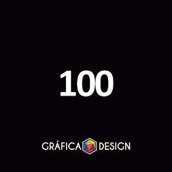 100 Cartaz Sem Verniz | +-31x44cm | Papel Couchê 120g NORMAL | Padrão | 4x4 FRENTE e VERSO Coloridos :: id 11733