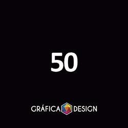 50 Régua Cristal Frente e Verso | +-17,6x5,4cm | Plástico PVC Médio BRILHO CRISTAL | Cantos Arredondados | 4x4 FRENTE e VERSO Coloridos :: id 339452