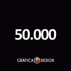 50.000 Folder Sem Verniz   +-15x10cm   Papel Couchê 120g NORMAL   Padrão   4x0 FRENTE Colorida apenas :: id 394532