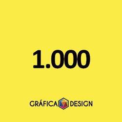 1.000 cópias iguais   Cartão de Visita Verniz Total Frente (id 12717) +-9x5cm   Papel Couche 250gPAPEL CARTÃO + BARATO   Acabamento Padrão   Impressão FRENTE Colorida apenas   4x0 cores