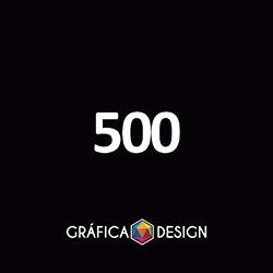 500 Cartão de Visita Verniz Total Frente | +-9x5cm | Papel Couche 250gPapel Cartão + BARATO | Padrão | 4x4 FRENTE e VERSO Coloridos :: id 12720