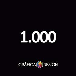 1.000 Cartão de Visita Verniz Total Frente | +-9x5cm | Papel Couche 250gPapel Cartão + BARATO | Padrão | 4x4 FRENTE e VERSO Coloridos :: id 12721