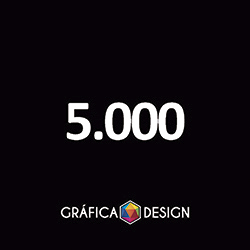 5.000 Timbrado   +-15x21cm   Papel Reciclato 90g   Padrão   4x0 FRENTE Colorida apenas :: id 21348