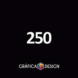250 Cartão de Visita Verniz Total Frente | +-9x5cm | Papel Couche 250gPapel Cartão + BARATO | Padrão | 4x4 FRENTE e VERSO Coloridos :: id 21800