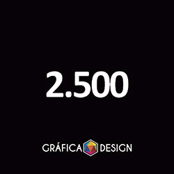 2.500 Folder Sem Verniz | +-14x10cm | Papel Couche 80gPAPEL+ BARATO | Padrão | 4x4 FRENTE e VERSO Coloridos :: id 22550