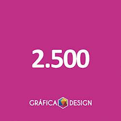 2.500 cópias iguais | Folder Sem Verniz (id 22550) +-14x10cm | Papel Couche 80gPAPEL+ BARATO | Acabamento Padrão | Impressão FRENTE e VERSO Coloridos | 4x4 cores