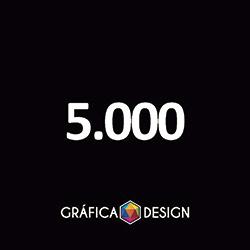 5.000 Folder Sem Verniz | +-14x10cm | Papel Couche 80gPAPEL+ BARATO | Padrão | 4x4 FRENTE e VERSO Coloridos :: id 22551