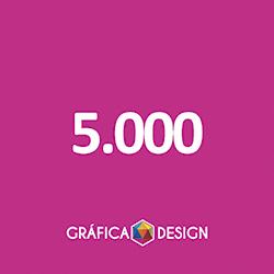 5.000 cópias iguais | Folder Sem Verniz (id 22551) +-14x10cm | Papel Couche 80gPAPEL+ BARATO | Acabamento Padrão | Impressão FRENTE e VERSO Coloridos | 4x4 cores
