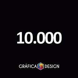 10.000 Folder Sem Verniz | +-14x10cm | Papel Couche 80gPAPEL+ BARATO | Padrão | 4x4 FRENTE e VERSO Coloridos :: id 22552