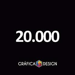 20.000 Folder Sem Verniz   +-10x21cm   Papel Couche 80gPAPEL+ BARATO   Padrão   4x0 FRENTE Colorida apenas :: id 23410